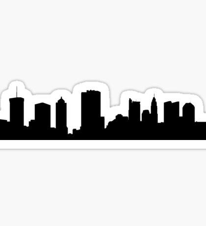 Columbus skyline Sticker