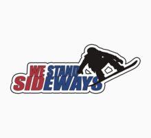We Stand Sideways - Red, Blue, Black  Kids Tee