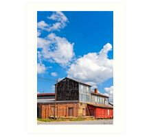 Hawkinsville Georgia - Rural Industrial Memories Art Print