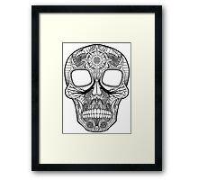 Inked Candy Skull - Journey Framed Print