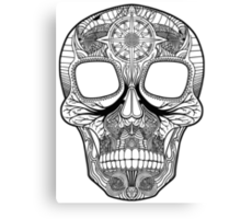 Inked Candy Skull - Journey Canvas Print