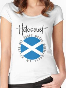 Holocaust - Heavy Metal Mania (Fanmade Merch - black letters) Women's Fitted Scoop T-Shirt