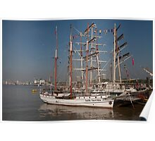 Loth lorien docked at the tall ships festival Poster