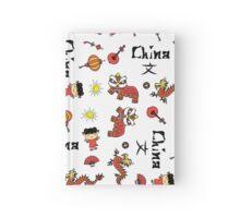 china symbol and Hieroglyph seamless Hardcover Journal