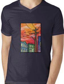 Sunset in Krakow Mens V-Neck T-Shirt