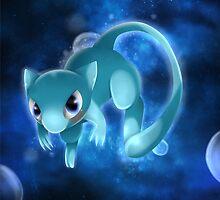 Shiny Mew Pokemon by ShinyhunterF