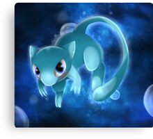 Shiny Mew Pokemon Canvas Print