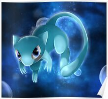 Shiny Mew Pokemon Poster