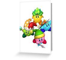 Four Kirbys Greeting Card