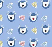 Blue Christmas Pattern by Anaa