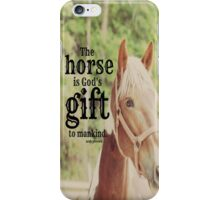 Horse God's gift iPhone Case/Skin
