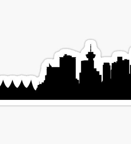 Vancouver skyline Sticker