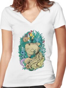 Fantasy fish Women's Fitted V-Neck T-Shirt