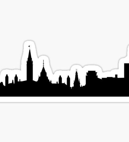 Ottawa skyline Sticker