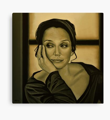 Kristin Scott Thomas Painting Canvas Print