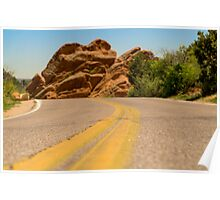Road at Garden of the Gods Poster