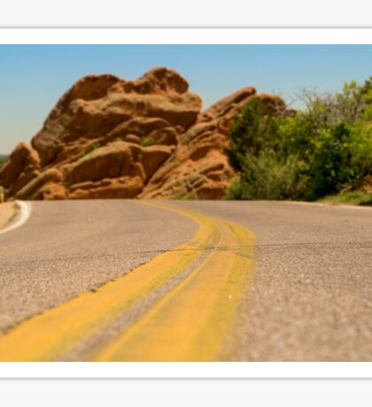 Road at Garden of the Gods Sticker