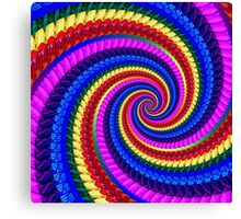 Rainbow Psychedelic Spiral Fractal Pattern Canvas Print