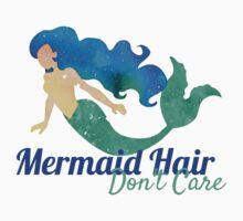 Mermaid Hair Don't Care Watercolor  Baby Tee