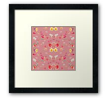 flowers pink pattern Framed Print