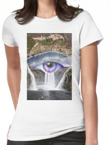 Waterfall Eye Womens Fitted T-Shirt