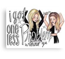 ariana ft iggy - problem cartoon Canvas Print