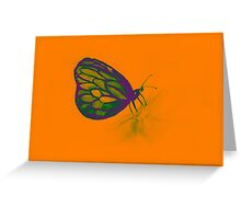 Colorful watercolor of butterfly  Greeting Card