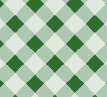 Modern,plaid,tartan,pattern,green,white,traditional,country chic Sticker