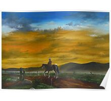 Riding Off Into The Sunset Poster