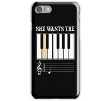 She Wants the D Piano Music iPhone Case/Skin