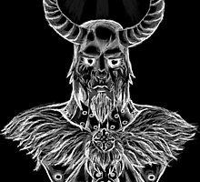 Loki, Viking God of Strife-White by Suzanne Daniel