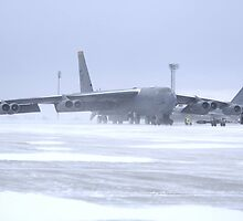 Snow 'birds' B-52s by Bomark2076WY
