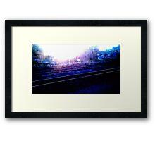 Downtown Tracks Framed Print