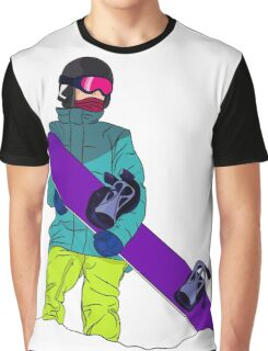 Snowboarder man with snowboard Graphic T-Shirt