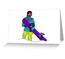 Snowboarder man with snowboard Greeting Card