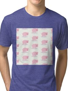 Kid pattern, pig,pigs, cute,kids,children,modern,happy,pattern Tri-blend T-Shirt