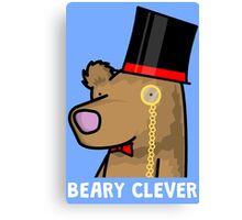 Beary Clever Canvas Print