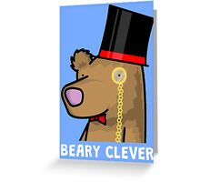 Beary Clever Greeting Card