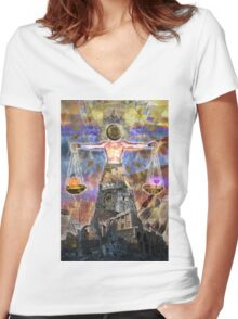 Sacred Ruins Women's Fitted V-Neck T-Shirt