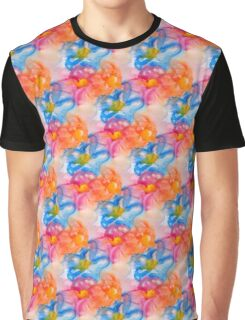 Abstact Colorful Flowers Pattern Design Graphic T-Shirt