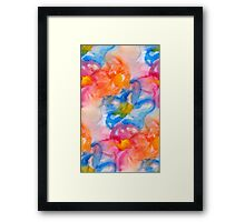 Abstact Colorful Flowers Pattern Design Framed Print