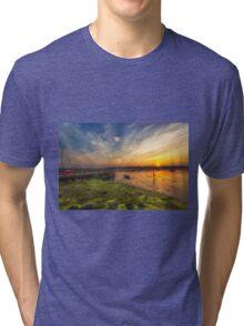 Newtown Quay Sunset Tri-blend T-Shirt