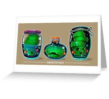 Pickle Line-up Greeting Card