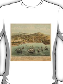 Vintage Pictorial Map of San Francisco (1884)  T-Shirt