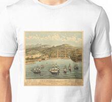 Vintage Pictorial Map of San Francisco (1884)  Unisex T-Shirt