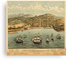 Vintage Pictorial Map of San Francisco (1884)  Canvas Print