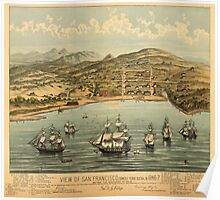 Vintage Pictorial Map of San Francisco (1884)  Poster