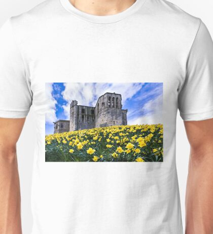 Spring at Warkworth Castle Unisex T-Shirt