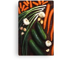 Healthy Vegetables Canvas Print
