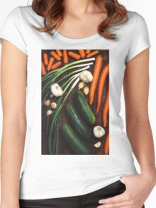 Healthy Vegetables Women's Fitted Scoop T-Shirt